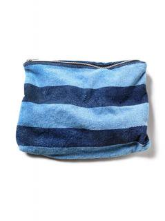 """To-Go-Pouch""<br />Color:Indigo Border Print"