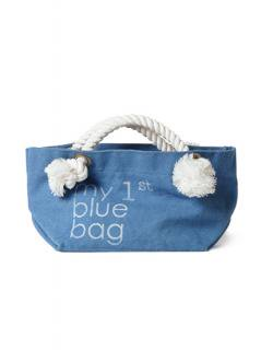 "Canvas Tote Bag ""my 1st blue bag""<br />Color:Light Blue Size: S"