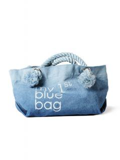 "Canvas Tote Bag ""my 1st blue bag""<br />Color: Blue Gradation Size: S"