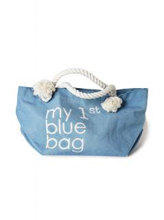 "Canvas Tote Bag ""my 1st blue bag""<br />Color:Pale Blue Size: M"