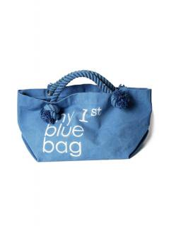 "Canvas Tote Bag ""my 1st blue bag""<br />Color: Light Blue Size: M"