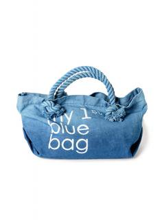 "Canvas Tote Bag ""my 1st blue bag""<br />Color:Blue Gradation Size: M"