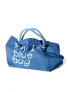 "Canvas Tote Bag ""my 1st blue bag""<br />Color: Light Blue Size: L"
