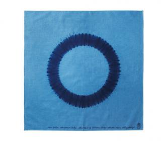 "Bandana Shibori ""Ring""<br />Color: Light Blue w/ Medium Blue"