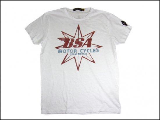 JOHNSON MOTORS/ジョンソンモータース S/S Tシャツ 「BSA スター」 オプティックホワイト