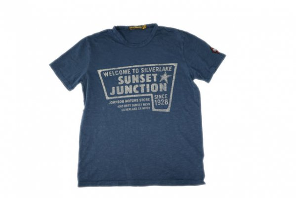 JOHNSON MOTORS ジョンソンモータース メンズ 半袖 Tシャツ 「シルバーレイク」 デッドネイビー