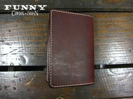 FUNNY/ファニー カードケース プレーン RED