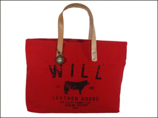 WILL LEATHER  GOODS/ウィルレザーグッズ   スモールクラッシックキャリーオール RED