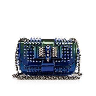 2015新作 ルブタン Christian Louboutin レディース ハンドバッグ Sweet Charity Small Patent Scarabe/Spikes