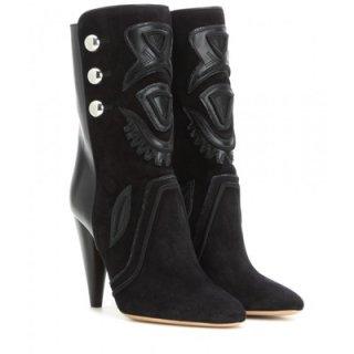 2015 新作 ISABEL MARANT イザベルマラン ☆ Liv suede and leather ankle boots ☆