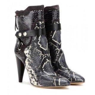 2015 新作 ISABEL MARANT イザベルマラン ☆ Redford embossed leather boots ☆