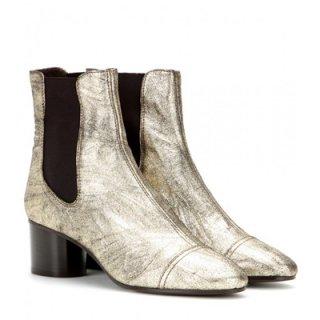 2015 新作 ISABEL MARANT イザベルマラン ☆ Danae metallic leather ankle boots ☆