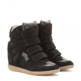 2015 新作 ISABEL MARANT イザベルマラン ☆ Bekett leather and suede wedge sneakers ☆