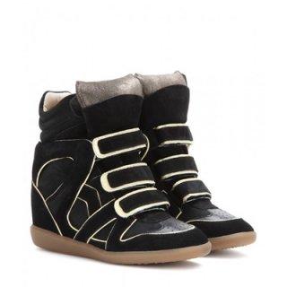 2015 新作 ISABEL MARANT イザベルマラン ☆ Wila Concealed Wedge Suede Sneakers ☆