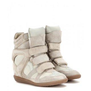 2015 新作 ISABEL MARANT イザベルマラン ☆ Bekett Leather and Suede Sneakers ☆
