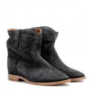 2015 新作 ISABEL MARANT イザベルマラン ☆ Crisi Concealed Wedge Suede Ankle Boots ☆