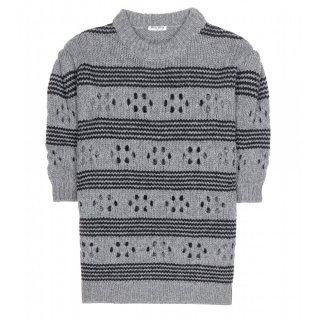 2015 新作 Miu Miu ミュウミュウ ☆Striped wool sweater☆