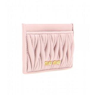 2015 新作 Miu Miu ミュウミュウ ☆Matelassé leather card holder☆