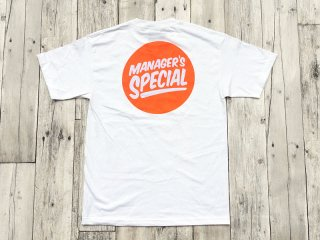 MANAGER'S SPECIAL [�ޥ͡����㡼�����ڥ����] LOGO TEE/WHITE-ORANGE