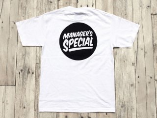 MANAGER'S SPECIAL [マネージャーズスペシャル] LOGO TEE/WHITE-BLACK