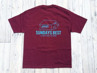SUNDAYS BEST [サンデイズ ベスト] LIGHTING STORE TEE/BURGUNDY