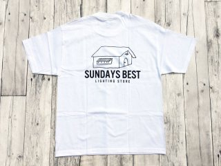 SUNDAYS BEST [サンデイズ ベスト] LIGHTING STORE TEE/WHITE