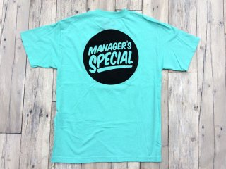 MANAGER'S SPECIAL [マネージャーズスペシャル] LOGO TEE/MINT