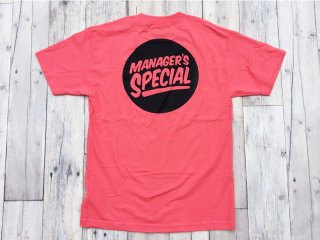 MANAGER'S SPECIAL [マネージャーズスペシャル] LOGO TEE/CORAL