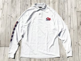 QUARTER SNACKS [クウォータースナックス] GEOMETRIC LS POLO/WHITE