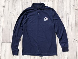 QUARTER SNACKS [クウォータースナックス] GEOMETRIC LS POLO/NAVY