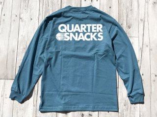 QUARTER SNACKS [クウォータースナックス] JOURNALIST L/S TEE/SLATE BLUE
