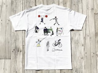 QUARTER SNACKS [クウォータースナックス]  ACTIVITIES TEE/WHITE