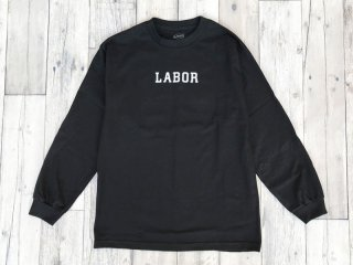 LABOR [レイバー] WORDMARK LONGSLEEVE TEE/BLACK