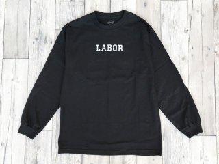 LABOR [レイバー] WORDMARK LONGSLEEVE TEE/BLACK