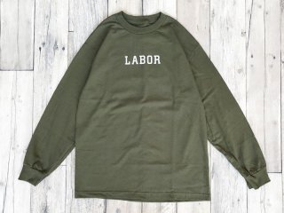LABOR [レイバー] WORDMARK LONGSLEEVE TEE/BLACKMILITARY GREEN