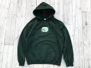 WITHOUT SQUAD [ウィザウト・スクワッド] CAMEL HOODED SWEAT SHIRTS/FOREST GREEN