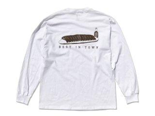 SUNDAYS BEST [サンデイズ ベスト] HATOS BAR LONG SLEEVE TEE/WHITE