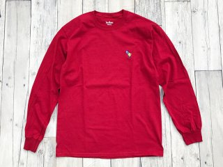 BEDLAM [べドラム] CHAIMAN LONG SLEEVE TEE/CARDINAL