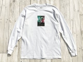 JHAKX [ジャークス] NOTES MAGAZINE LONG SLEEVE TEE/WHITE