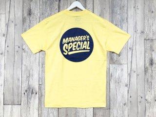 MANAGER'S SPECIAL [マネージャーズスペシャル] LOGO TEE/BANANA-NAVY