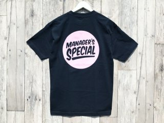 MANAGER'S SPECIAL [マネージャーズスペシャル] LOGO TEE/NAVY-PINK