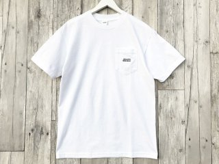JHAKX [ジャークス] EMBROIDERY LOGO POKET TEE/WHITE