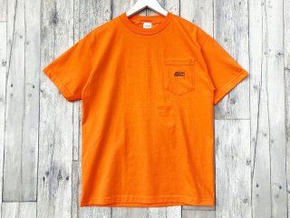 JHAKX [ジャークス] EMBROIDERY LOGO POKET TEE/ORANGE