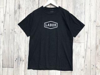 LABOR [レイバー] CREST LOGO TEE/Overdyed Black