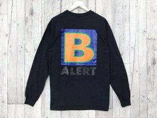 BEDLAM [べドラム] B ALERT L/S TEE/BLACK