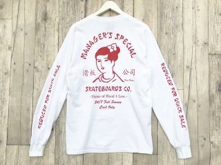 MANAGER'S SPECIAL [マネージャーズスペシャル] SUZY WONG LONG SLEEVE TEE/WHITE