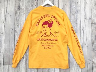 MANAGER'S SPECIAL [マネージャーズスペシャル] SUZY WONG LONG SLEEVE TEE/GOLD