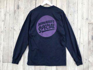 MANAGER'S SPECIAL [マネージャーズスペシャル] LOGO LONG SLEEVE TEE/NAVY