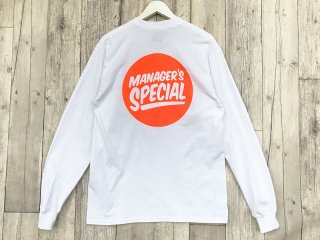 MANAGER'S SPECIAL [マネージャーズスペシャル] LOGO LONG SLEEVE TEE/WHITE