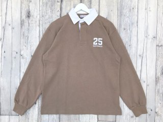 QUARTER SNACKS [クウォータースナックス] 25 RUGBY SHIRT/TAN